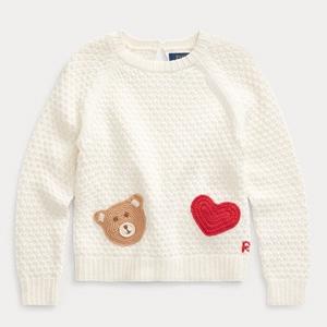 Ralph Lauren拉夫劳伦 Bear-Pocket 2-6岁小童针织衫