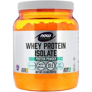 小降!Now Foods运动型乳清蛋白分离物 无味1.2 磅(544 克)