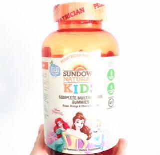 美国Sundown Naturals Kids儿童复合维生素软糖180粒
