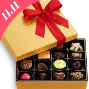 Godiva美国官网双十一现有多款巧克力礼盒买一件第二件半价
