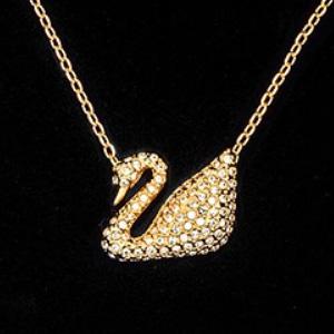 Swarovski施华洛世奇 23K Yellow Gold黄金闪耀天鹅项链