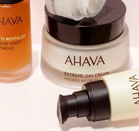 AHAVA官网现有全场护肤满额外6折+送旅行装沐浴液
