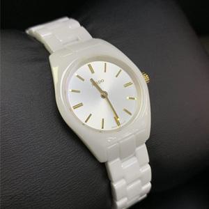 Rado 雷达Specchio系列白色陶瓷女士腕表R31509112