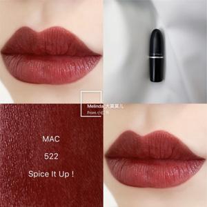 MAC 魅可子弹头口红3g #522 SPICE IT UP 浆果红棕