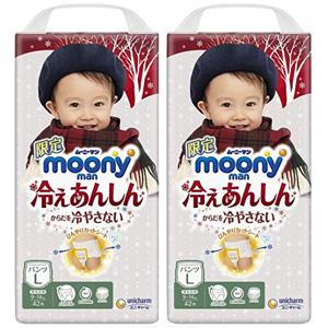 Moony尤妮佳 冬季保暖拉拉裤L42/XL36 两袋装