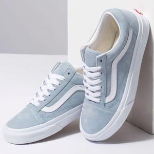 VANS范斯Old Skool经典女款休闲鞋 粉蓝色