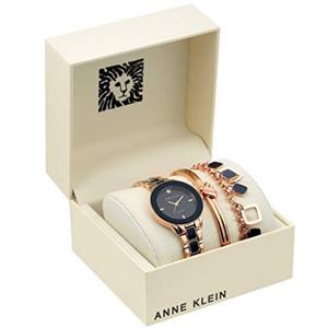 Anne Klein安妮·克莱恩 AK/3348 施华洛世奇水晶 女士手镯手表套装(4色可选)
