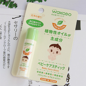 Wakodo和光堂 纯植物红茶 婴儿润唇膏 5g