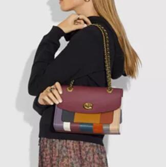 COACH Patchwork Stripe Parker女士链条包