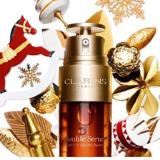 Clarins美国官网双十二全场满$100送9件套热门产品圣诞大礼包