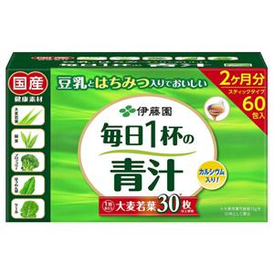 再补!伊藤园 每天一杯青汁(粉末类型)7.5g*60包