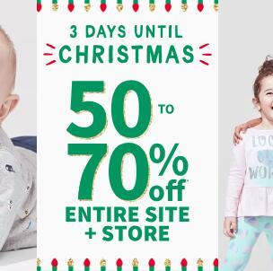 Carters卡特美国官网现有圣诞节低至3折促销+满$40额外8折