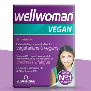 Vitabiotics Wellwoman Vegan 素食营养补充剂