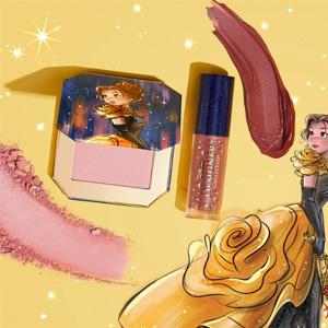 多色补!ShopDisney有ColourPop合作款公主礼盒(腮红+唇釉)
