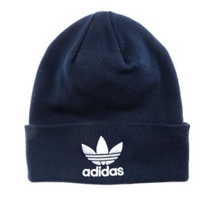 凑单品!adidas Originals三叶草 Trefoil LOGO 传奇墨水蓝针织冷帽
