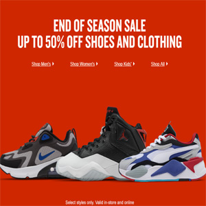 FinishLine官网精选 adidas、Nike运动鞋服额外7.5折促销