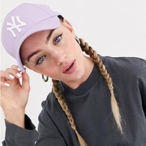 New Era MLB Basic 洋基 9Forty可调节香芋紫棒球帽