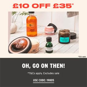 The Body Shop英国官网满£35立减£10促销