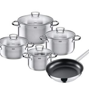 WMF旗下高端Silit 喜力特 不锈钢厨具5件套