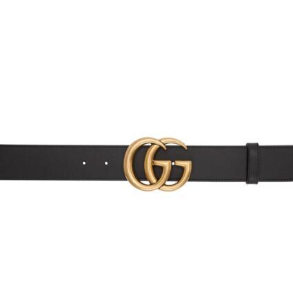 Gucci经典3cm双G腰带