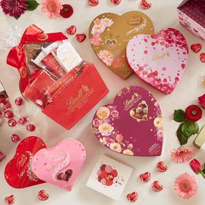 升级!Lindt瑞士莲官网现有情人节主题巧克力礼盒5折促销