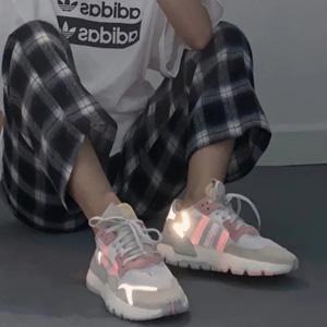 Adidas ORIGINALS NITE JOGGER粉橘女士运动鞋