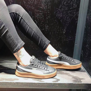 Puma Smash Platform Varsity Trainers女士板鞋