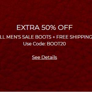 Ecco美国站现有精选鞋靴额外5折促销