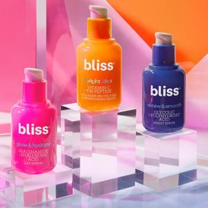 Bliss网站现有情人节全场护肤类8折促销