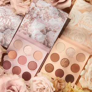ColourPop卡拉泡泡玫瑰眼影blush crush+nude mood套盒