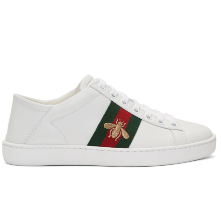 Gucci White Leather Ace蜜蜂小白鞋