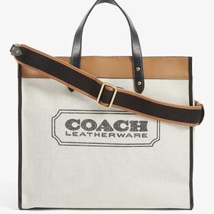 2020早春秀款!COACH Field 40 logo-printed 帆布包