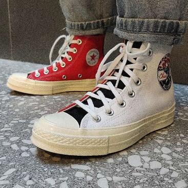 Converse匡威Chuck 70 Hi红白鸳鸯帆布鞋
