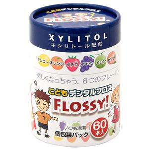 新版 Flossy 儿童专用牙线棒 6种水果味 60根