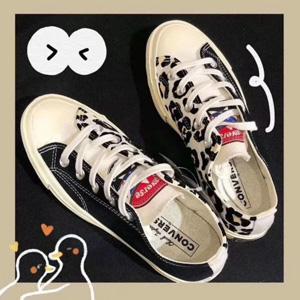 Converse Chuck '70 Ox豹纹拼接短款帆布鞋