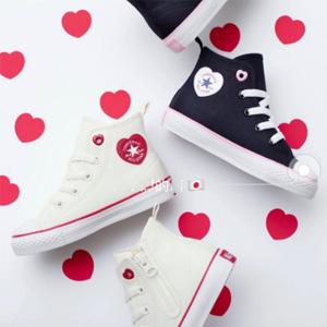 日本限定 Converse匡威 ALL STAR2020春夏新款心形标童鞋
