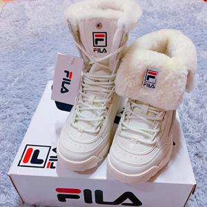Fila Disruptor Shearling斐乐女款加绒老爹鞋