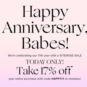 REVOLVE十七周年庆全场83折促销