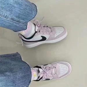 Big7码补货!Nike Court Borough Low 2樱花粉大童款板鞋