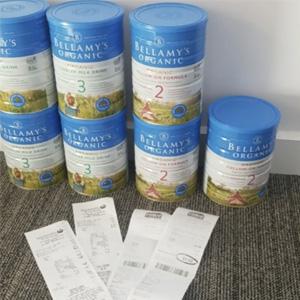 Bellamy's 贝拉米 有机婴幼儿配方奶粉1/2/3/4段 900g*3罐装