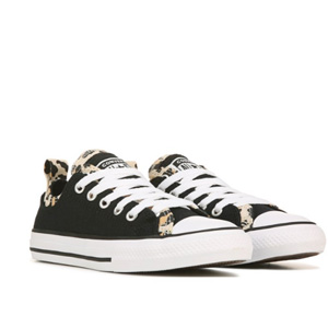 Converse Chuck Taylor All Star大童款豹纹拼色板鞋