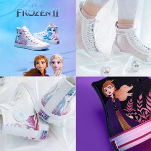Converse x Frozen 2 联名迪士尼冰雪奇缘大童款印花板鞋