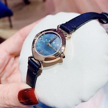 降价!Tissot 天梭钻石蓝色表盘女式手表 T113.109.36.126.00