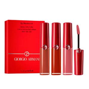 降价!Giorgio Armani 阿玛尼红管唇釉套盒(200/405/501)