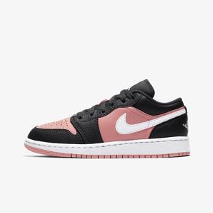 乔丹 Air Jordan 1 低帮大童款篮球鞋 Pink Quartz樱花粉