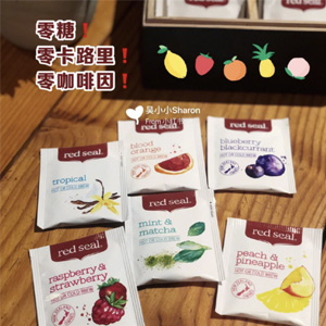 凑单品!Red Seal 红印 甜桃菠萝/血橙水果茶包 20包