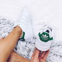 Adidas 阿迪达斯Stan Smith绿尾大童款