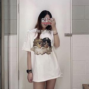 Adidas三叶草 FIORUCCI小天使限量联名T恤