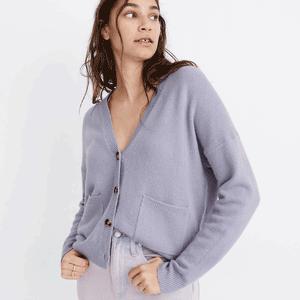 Madewell 香芋紫宽松版开衫