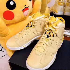 big 3码有货!Air Jordan RETRO 6 花卉黄中童款运动鞋